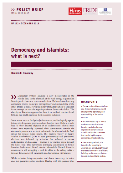 91ed7b32799695 FRIDE – Democracy and Islamists  What is next